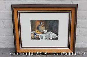 Signed Watercolour Still Life Painting, Audrey Ardron
