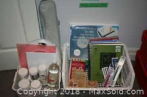 Palette, Sketch Pads, Easel and Art Supplies