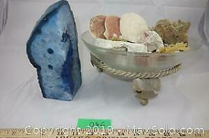 Natural rock Lot 9 - Gem stone, polished Agate, shells and more A