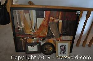 IKEA Framed and Signed Oil on Canvas and More A
