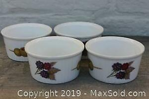 Lot of four Royal Worcester Evesham Souffle/Custard bowls
