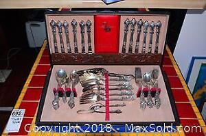 Rogers Silver Plated Cutlery And Box A