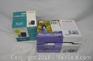 Canon Powershot A80 Digital Camera and Charger - A
