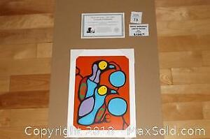 Native Ojibway Norval Morrisseau YOUNG GULLS WATCHING unframed print with COA