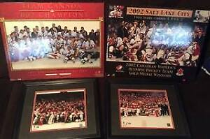 4 Team Canada Hockey Olympic Gold Pictures