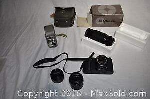 2 Vintage Cameras and Camera Equipment