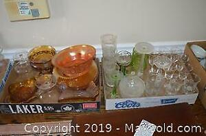 Carnival Glass and Vintage Glassware A