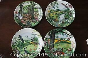 4 PCS COLIN NEWMAN COUNTRY PANORAMA SERIES COLLECTOR PLATES