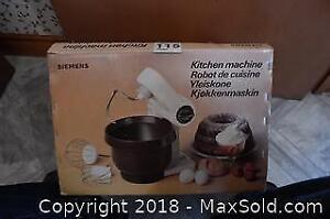 Siemens Kitchen Machine A