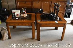 Pair Of End Tables - B
