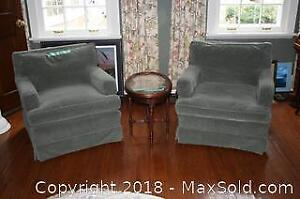 Two Down Filled Armchairs - B