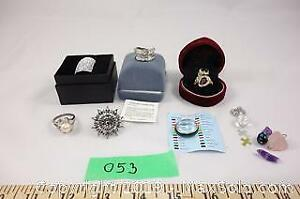 Jewelry lot 2 - custom jewelry rings, amethyst and rose quartz pieces A