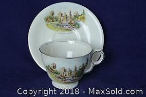 Royal Winton Cup & Saucer Depicting Cardiff Castle