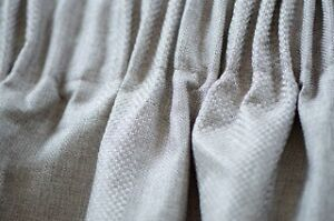 New - 2 Pair textured Pencil Pleat Block Out Curtains - Soft Grey Birkdale Redland Area Preview
