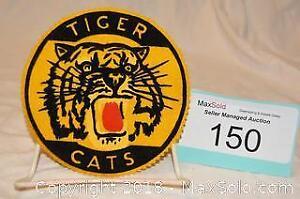 TIGER CATS Jacket CREST - screened design on felt -Hamilton football