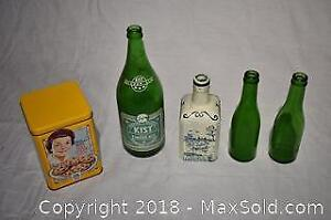 Old bottles and Cookie Tin