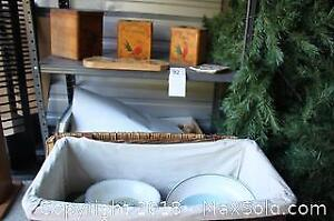 Vintage Wooden Canisters And More - A