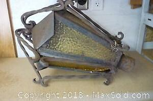 Vintage Wrought Iron Streetlamp Topper - A