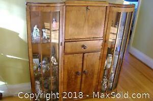 Antique Bow China cabinet-desk.