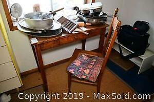 Antique Table and Chair C