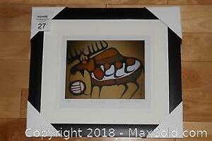 Native Ojibway Norval Morrisseau MOOSE SPIRIT newly framed with COA