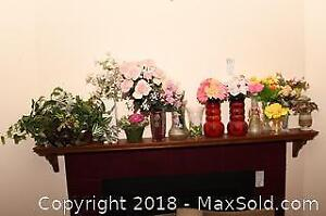 Artificial Flowers And Vases - A