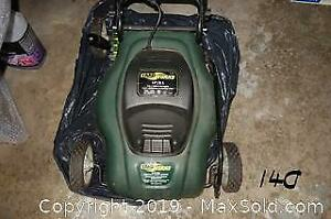 Garden lot 2 - Yard Works electric compact lawn mower. B