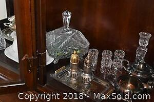 Crystal and Silver Plate A