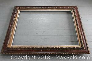 Exceptional Quality, Very Large Carved Mahogany? and Gilded Antique Gallery Frame