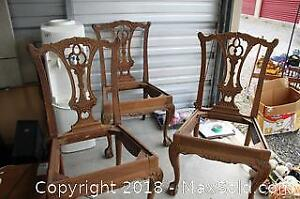 Three Chippendale Style Chair Frames - B