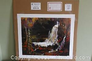 Group of Seven Tom Thomson WOODLAND WATERFALLS unframed print with COA
