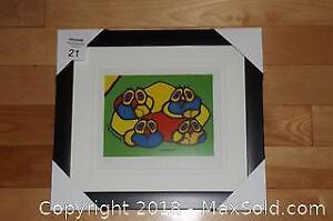 Native Ojibway Norval Morrisseau OWLS newly framed with COA
