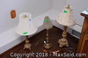 Three Decorator Table Lamps - B