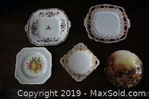 5 PCS ASSORTED FINE BONE CHINA PLATES & BOWLS