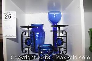 Blue Glass Collection - A