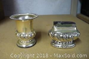Vintage Lighter and Match Holder as Pictured - A