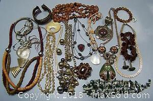 Assorted Vintage Jewelry - A