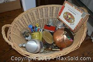 German Steins, Copper Pot, Cigar Box and More A
