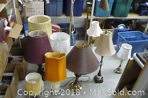Large Lot of Lamps, some Damaged - A