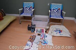 Blue Jays Sports Memorabilia And Outdoor Chairs B