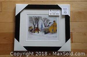 Group of Seven associate Clarence Gagnon WINTER MORNING newly framed with COA