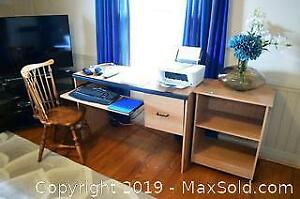 Desk, Chair, And More C