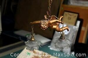 Antique Cherub Light Fixture A