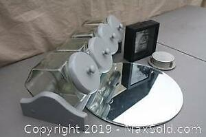 Canister Set, Mirror, Coaster Set and Picture Box