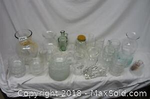 Lot of Misc. Glass and Crystalware as Pictured - B