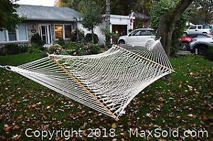 Double Hammock and Outdoor Decor C