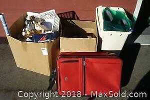 Suitcase, Rubber Boots, and other Misc. Housewares - A