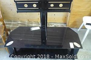 Modern Style Glass TV/Entertainment Cabinet with Mount for Flat Screen TV - C