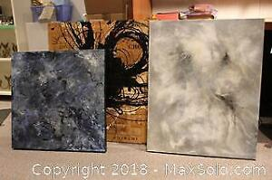 Original Acrylic on Canvas and Wine Crates Mounted on Wooden Panel Original Art