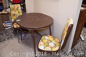 Vintage Table And Chairs C